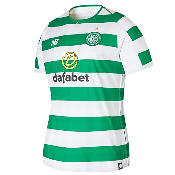 b52d24114 New Balance Celtic FC 2018 19 Womens Home Football Shirt White Green ...