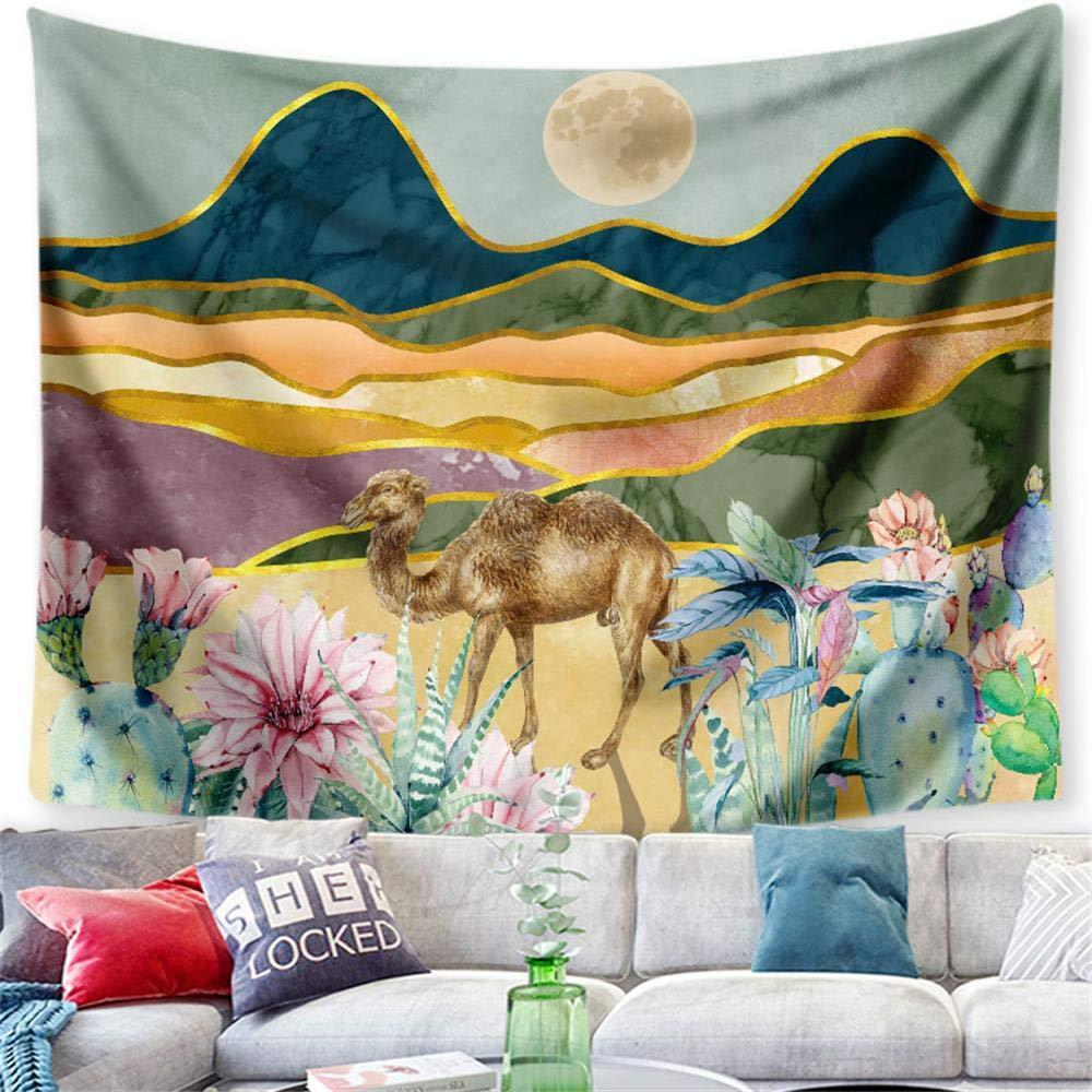 PYHQ Selva Tropical Cactus Tapiz Pared,Hippie Bohemia Art,Dormitorio Fiesta Cumpleaños Habitación Decoración