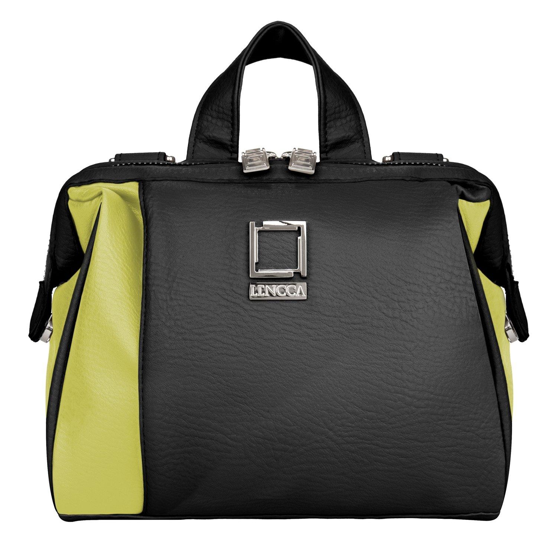 Camera Bag, Waterproof Vegan Leather DSLR SLR Professional Camera Shoulder Bag with Removable Strap, Shockproof Built-in Dividers (Solar/Black)