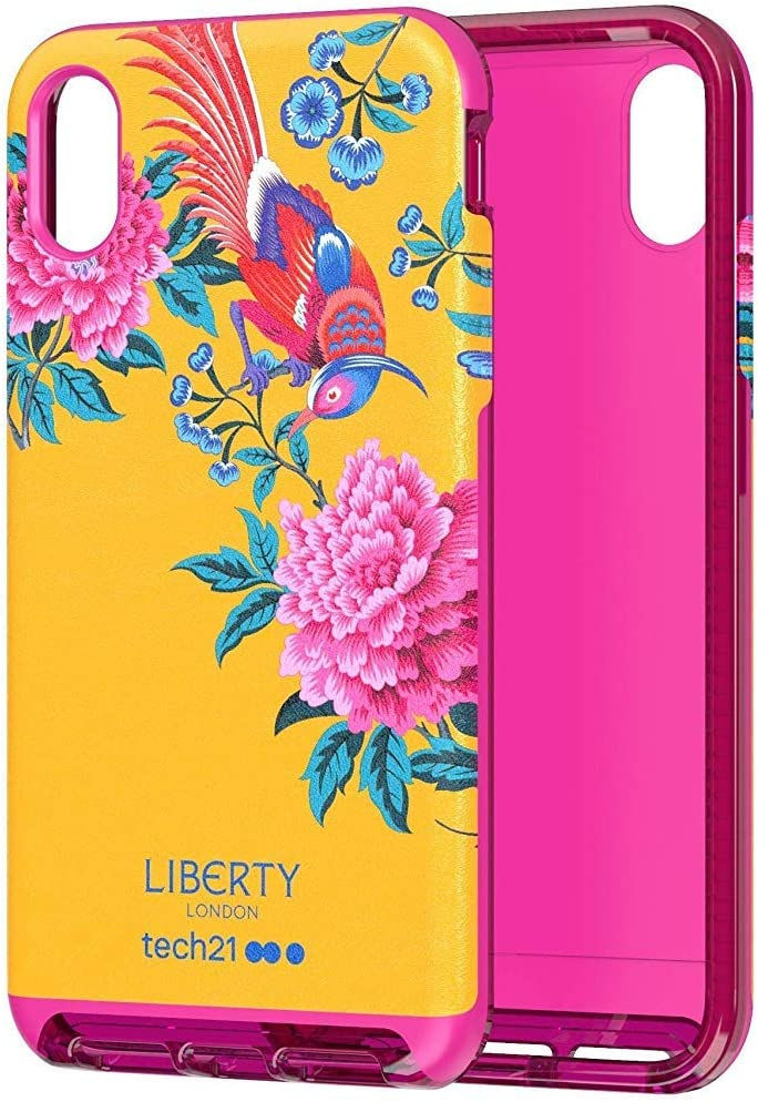 tech21 Evo Luxe Liberty London Elysian Paradise Phone Case Cover for Apple iPhone Xs Max, Red