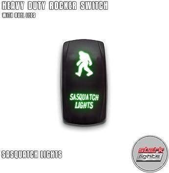 SASQUATCH LIGHTS On-Off Blue LED Laser Etched Car Rocker Switch Control 5Pin 12V