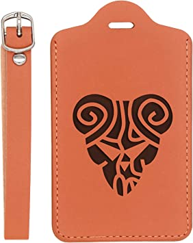 We Do Engraved Synthetic Pu Leather Luggage Tag Handcrafted By Mastercraftsmen London Tan - Set Of 2 - United States Standard For Any Type Of Luggage