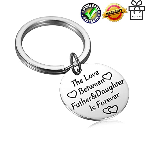 Alxeani Fathers Day Gift Dad Keychain From Daughter Birthday Gifts For Papa Daddys Lieele Girl