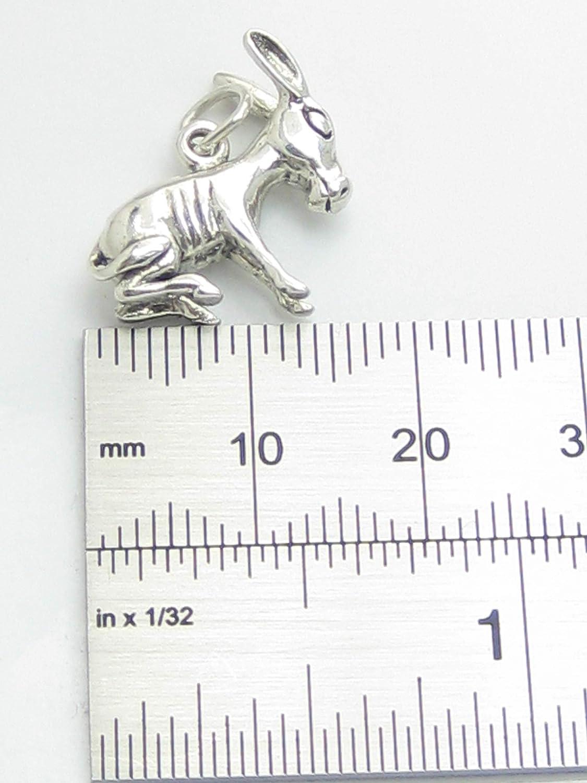 Donkey Mule en Argent 925//1000 charms SSLP1154 Donkies et les mulets
