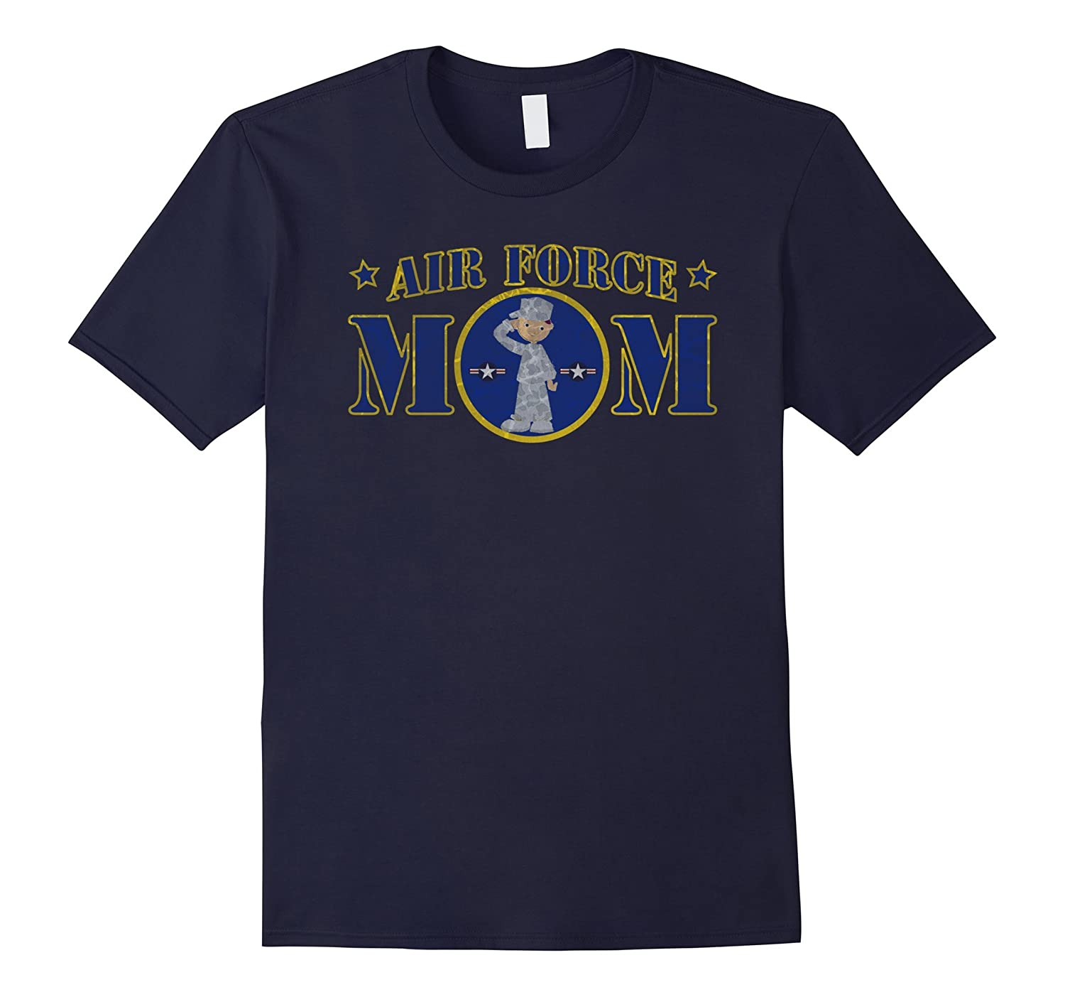 AIR FORCE MOM WHITE MALE AIRMAN MILITARY T-SHIRT-PL