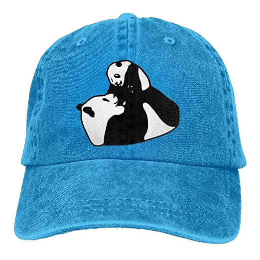 b2870864 Image Unavailable. Image not available for. Color: Pandas Father and Son  Unisex Adjustable Cowboy Baseball Caps Dad Hat ...