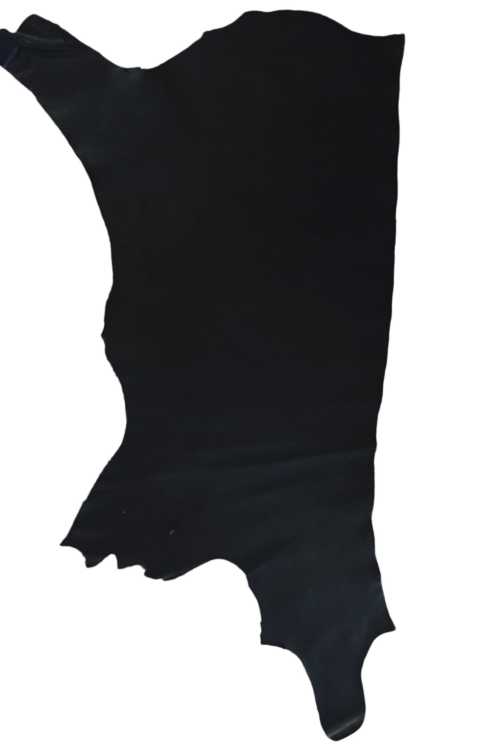 Premium Oil Tanned Leather (Full Side, Titan Black)