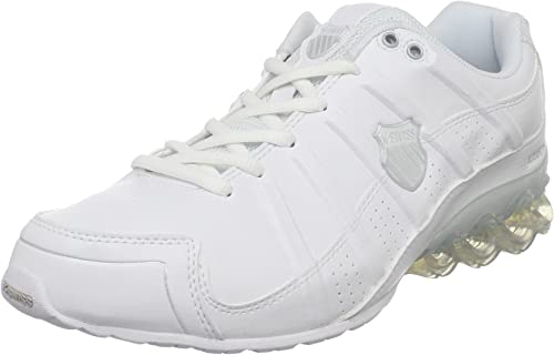 K-SWISS Clear Tubes 50 - Zapatillas de correr para hombre, blanco (Blanco/Plateado), 41 EU: Amazon.es: Zapatos y complementos