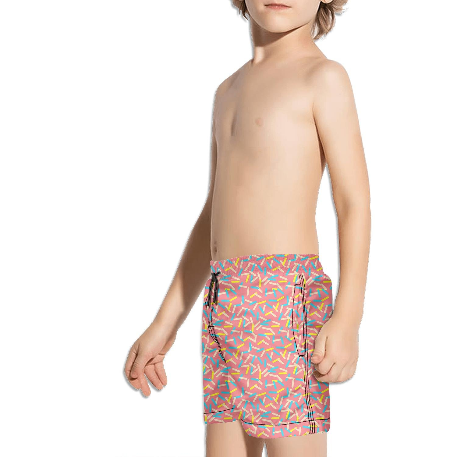 XULANG Kids Colorful Glazed Donut Swimming Trunks Surfing Skate Stretch Boardshorts