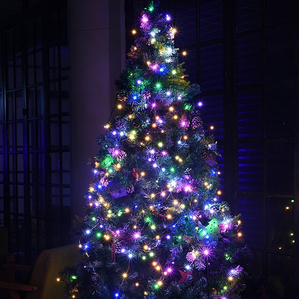 Battery Operated Christmas String Lights Flight 8 Circuit Diagram In Addition Tree Light Modes 3aa Powered 33ft 100led Waterproof Decorative Fairy Led For Seasonal