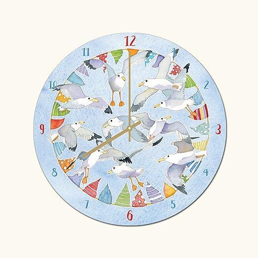 Emma Ball Petite Horloge Murale Decoration Marine Mouette