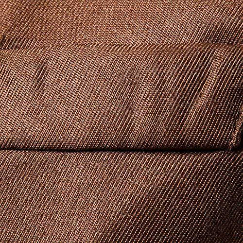Magiyard Veste Manche Gilet Marron6 Couleur Costume Unie Sans De rrzwqdp
