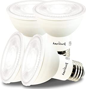 AmeriLuck 50W Equivalent PAR20 LED Spot Light Bulb, 7W Dimmable (5000K Daylight, 4 Pack)