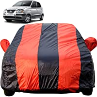 Autofact Car Body Cover for Hyundai Santro Xing (Mirror Pocket Fabric, Triple Stiched, Fully Elastic, Red/Blue Color)