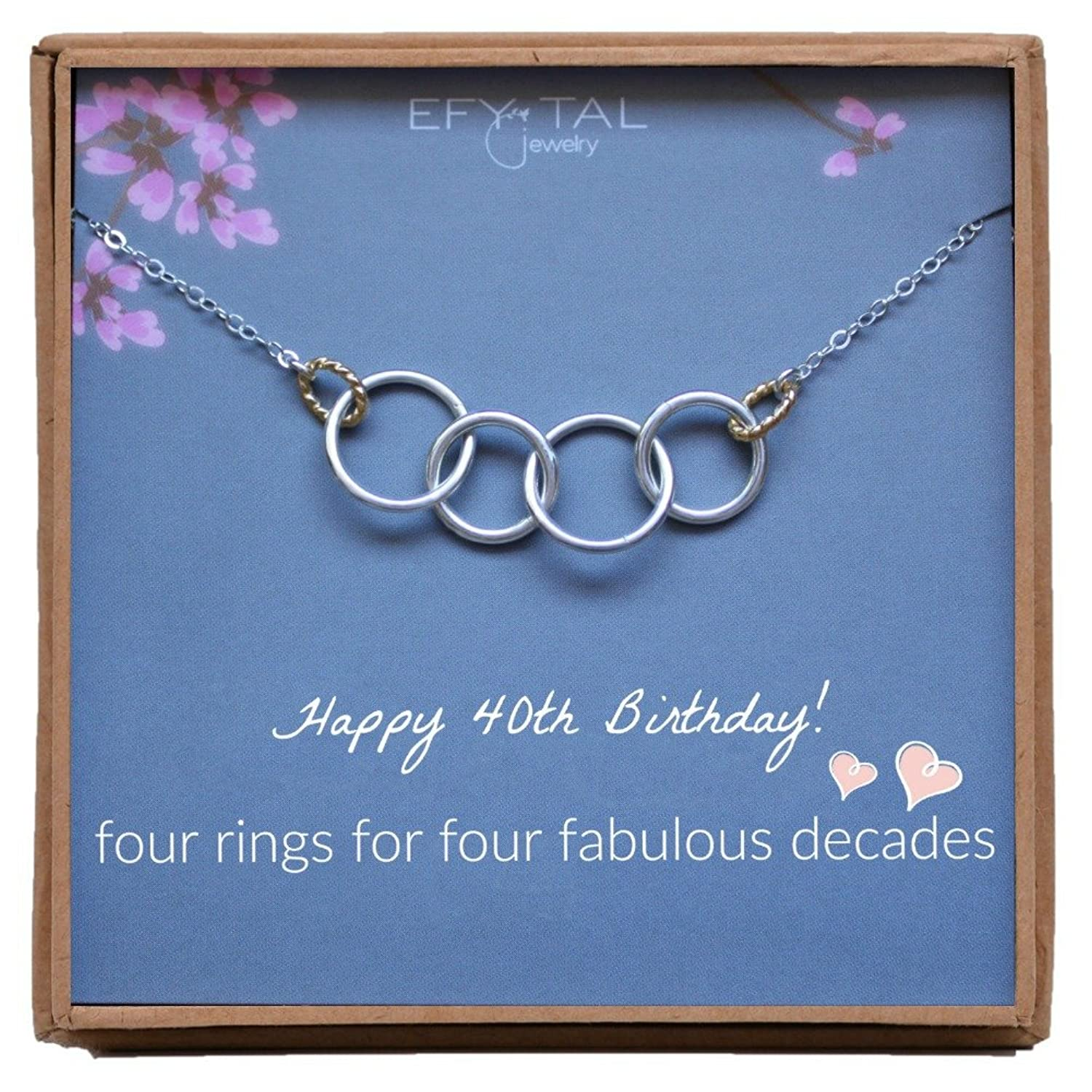 Efy Tal Jewelry Happy 40th Birthday Gifts For Women Necklace