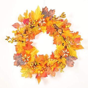 Decoración para el hogar, Corona de Flores, Elevin (TM) 50 cm de
