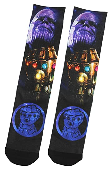af178915c701 Amazon.com: Marvel Thanos Avengers Infinity War Gauntlet Sublimated Printed Crew  Sock: Clothing