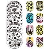 BORNPRETTY Nail Art Stamping Plate Templates Manicure Image Plates