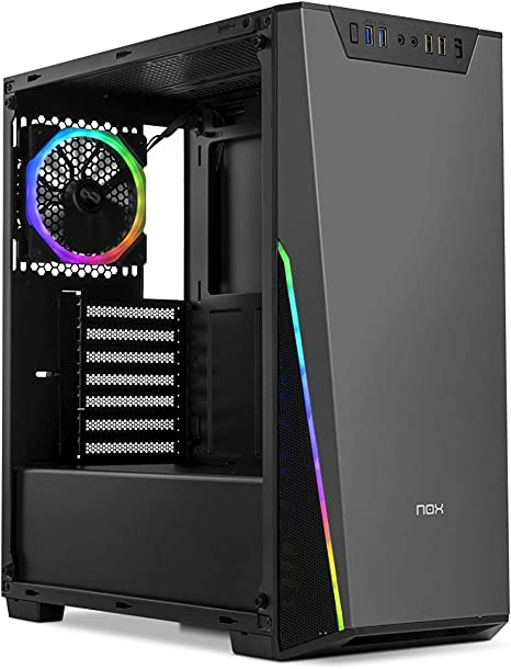 Nox Infinity Sigma - NXINFTYSIGMA - Caja PC, RGB, Color Negro: Nox: Amazon.es: Informática