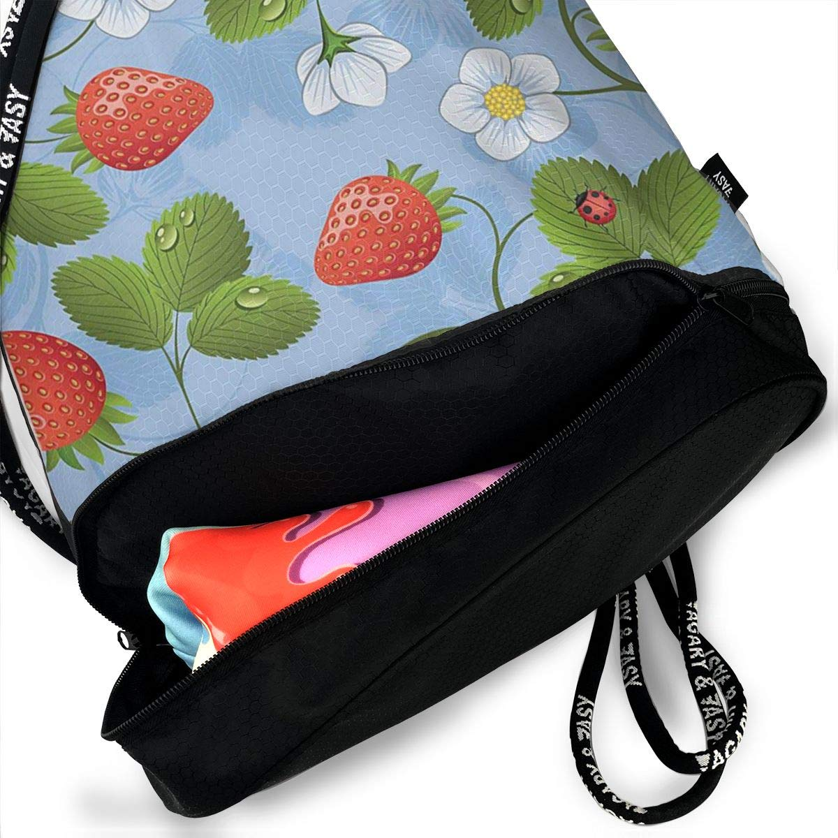 Strawberries Daisies And Ladybugs Multifunctional Bundle Backpack Shoulder Bag For Men And Women