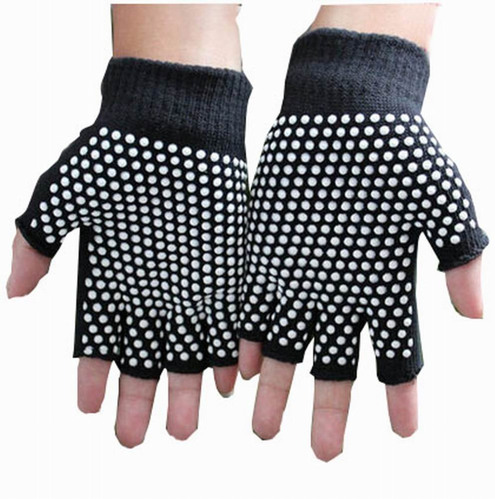Women's Yoga Gloves Practical Non-slip Cartoon Gloves, Black Black Temptation