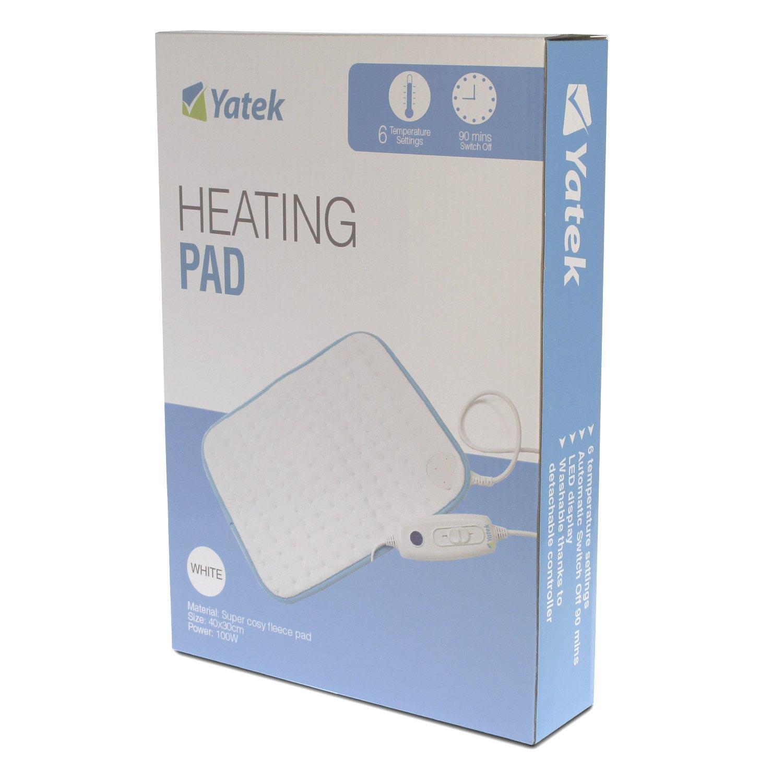 Almohadilla térmica electrónica lavable Yatek de 40 x 30 cms y 100w de potencia sin cubierta: Amazon.es: Salud y cuidado personal