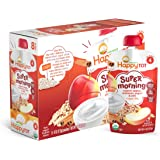 Happy Tot Organic Stage 4 Super Morning, Apple Cinnamon, Yogurt, & Oats + Super Chia, 4 Ounce (Pack of 8)