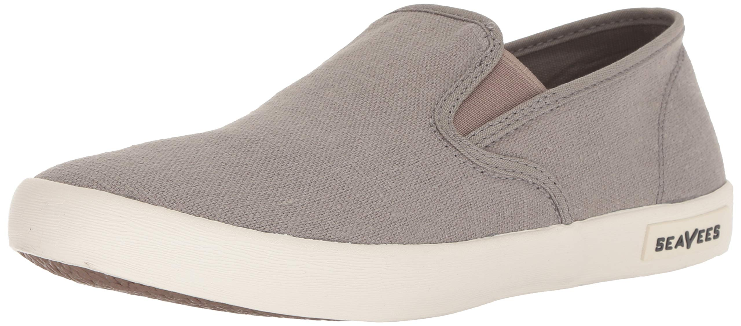 SeaVees Men's Baja Slip On Standard Casual Sneaker,Tin Grey, 12