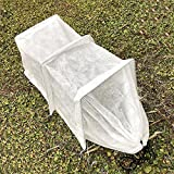 Mini Greehouse Easy Seedling Tunnels 0.95oz Plant Cover with Hoop Grow Tunnel Frost Protection,Plant Cover &Frost Blanket for Season Extension and Seed Germination, 4' Long x 10'' High, White