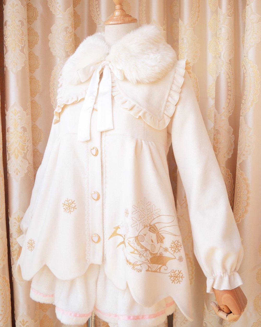 Nuoqi Winter Lolita Coat Womens Girls Cosplay Coat Costumes by Nuoqi (Image #2)