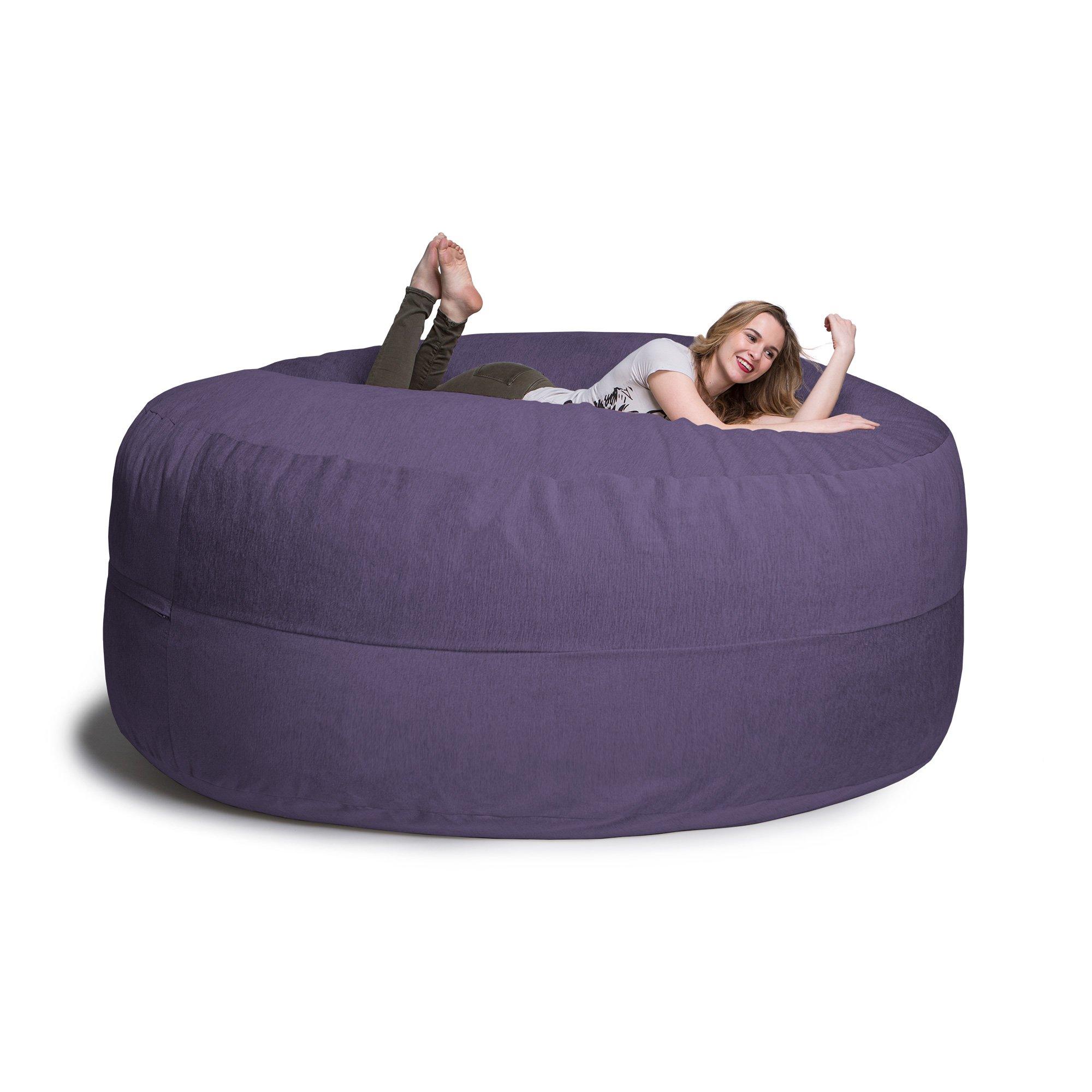 Jaxx Cocoon 8 Foot Huge Sleeper Bean Bag Bed - Chenille, Plum by Jaxx (Image #9)