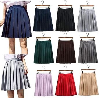 09861fc2c11 UNIYA(ウニヤ) プリーツスカート 制服スカート 無地 スクールスカート 女子高生 中学生 セーラー服 スカート