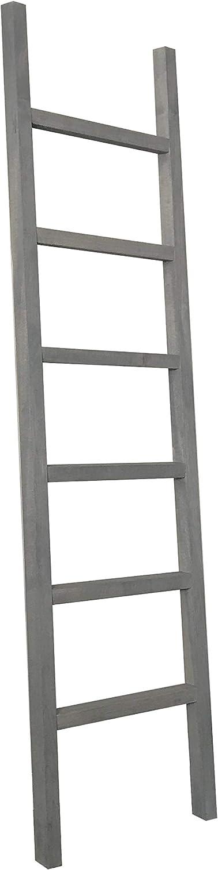 Zaycup 6 Foot Hardwood Blanket Ladder (Grey)
