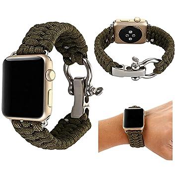 Amazon.com: Baokai Correa compatible con Apple Watch 38 mm ...