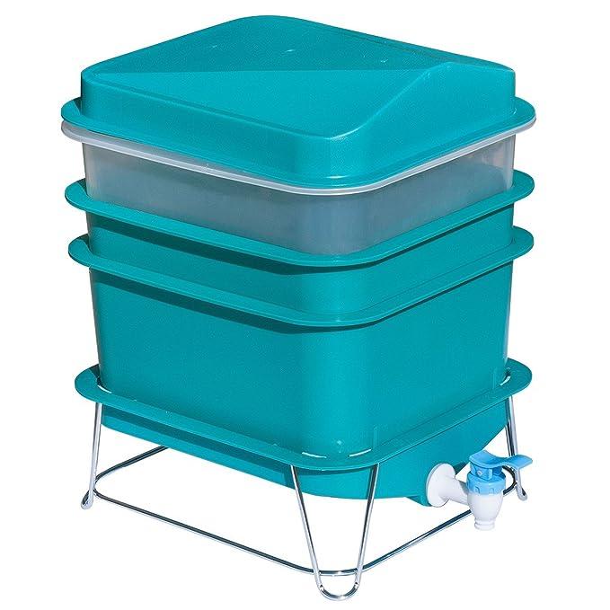 Anton 4-Tray gusano fábrica granja Compost pequeño juego de basura compacto: Amazon.es: Jardín