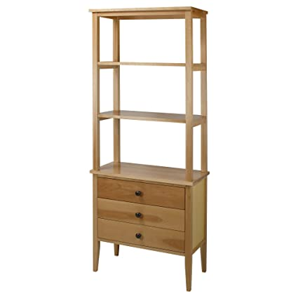 Amazon Com American Trails Edison Bookcase With Drawers With Solid