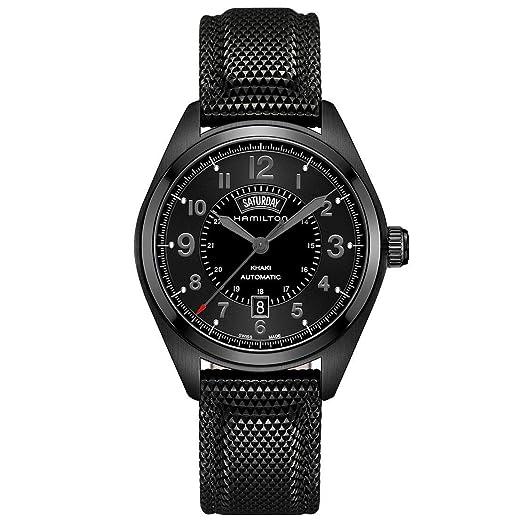 Hamilton hombre h70695735 Caqui campo día fecha negro reloj automático: Hamilton: Amazon.es: Relojes