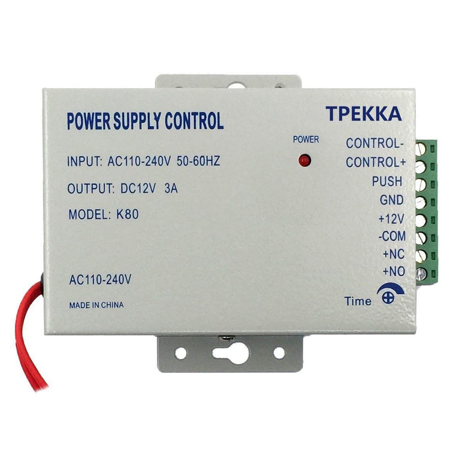 Electric Door Lock Power Supply AC 110-240V DC12V 3A Power Supply for Electric Door Lock Access Control System