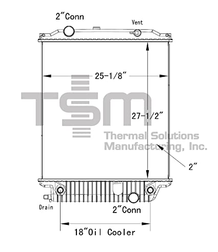 Amazon.com: TSMUSA Plastic Tank Radiator for Freightliner B2 ... on