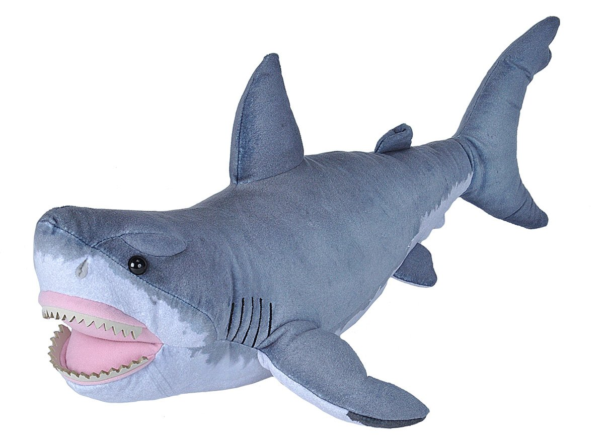 Wild Republic Great White Shark Plush, Stuffed Animal, Plush Toy, Gifts for Kids, Living Ocean 24 Inches