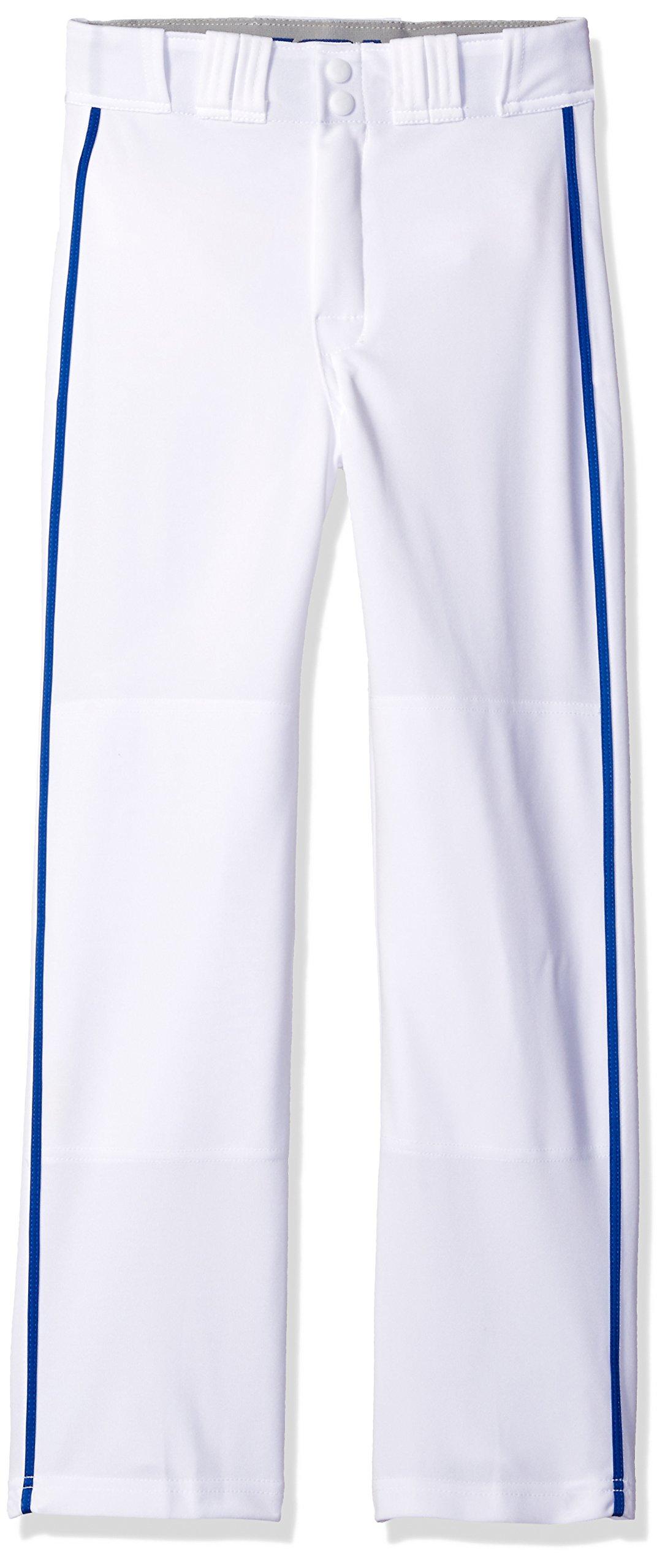 Easton Rival 2 Baseball Softball Pant | Youth | Small | White Royal | 2020 | Double Reinforced Knee | Elastic Waistband w/ 2 Color Internal Logo | 2 Batting Glove Pockets | 100% Polyester
