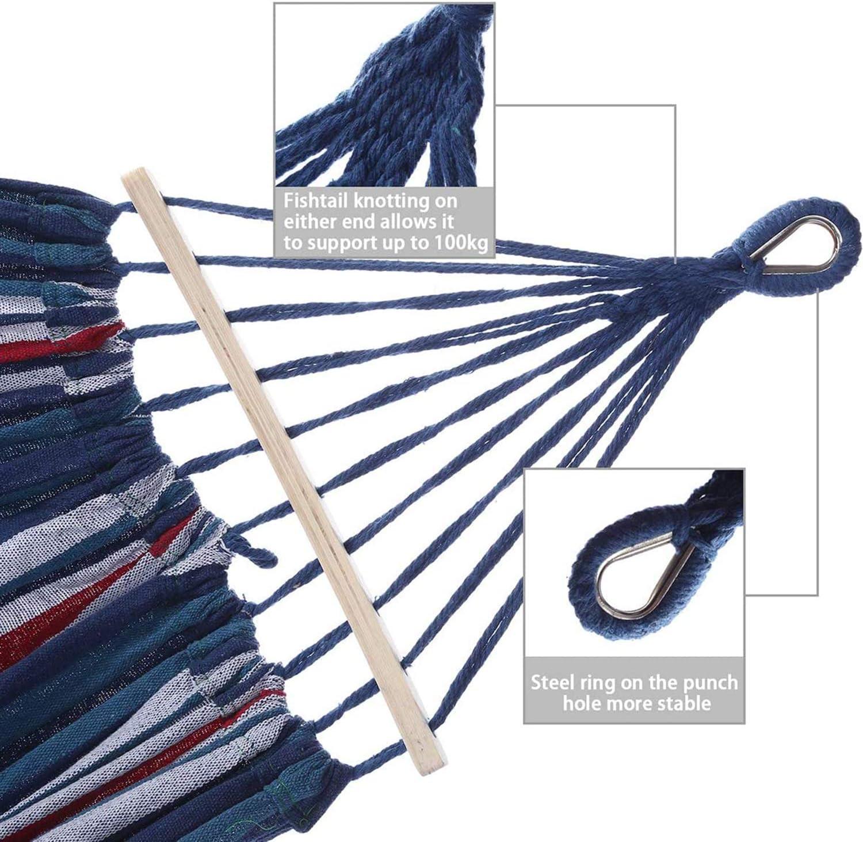 Outdoor Travel Double  Hanging Hammock Bed with No Flip Side Way 1-2 Men//women