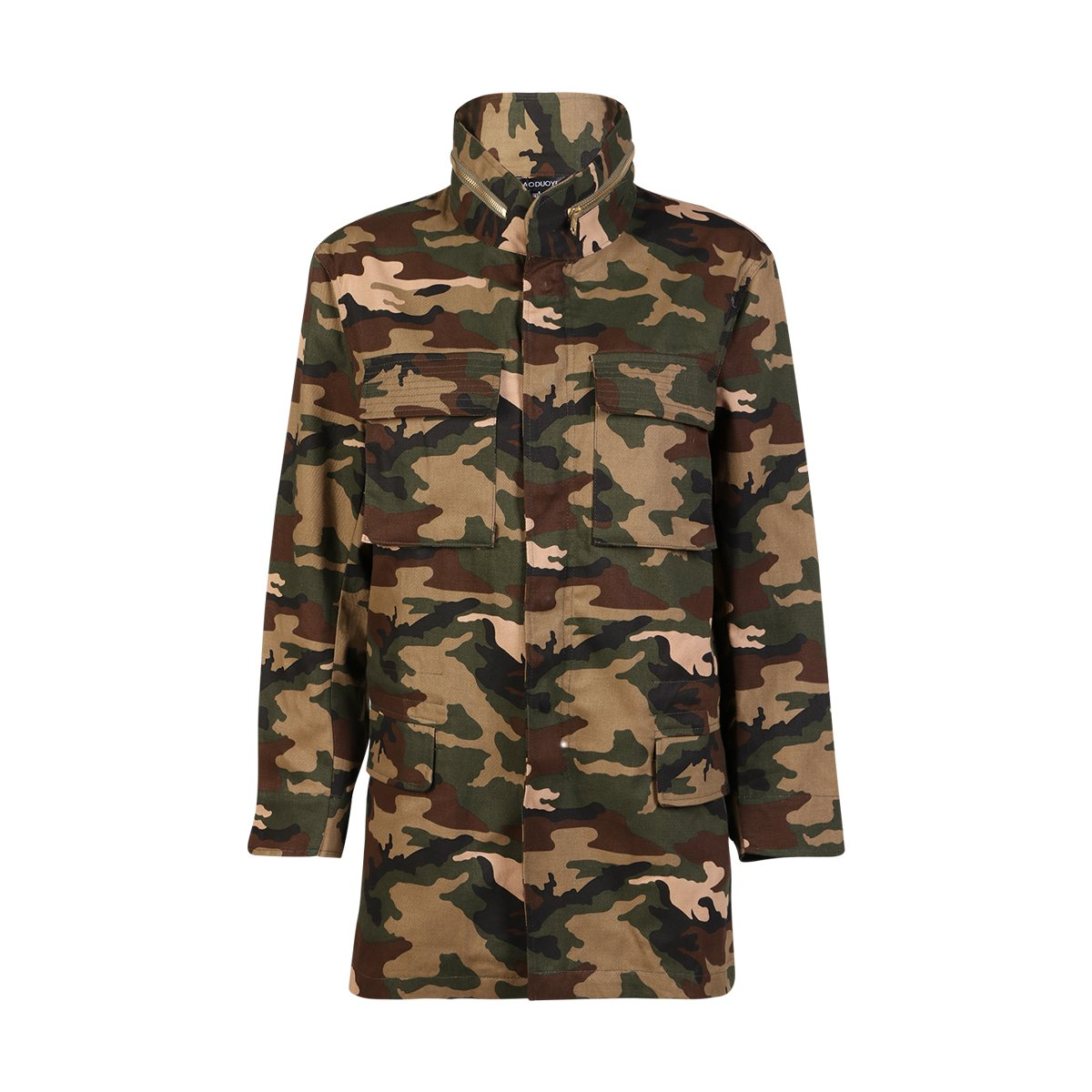 haoduoyi Womens Loose Camouflage Coats Disposition Outwear Jackets (XL) by HaoDuoYi (Image #2)