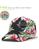 Premium Cotton Twill Adjustable Snapback Hats Baseball Caps (Hawaiian)