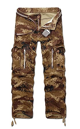 Panegy Herren Hose Baumwolle Gerade Camouflage Cargo Hosen Männer Lange  Cargohose Herbst Feldhose Winter Arbeitshose Casual 1cc0124a73