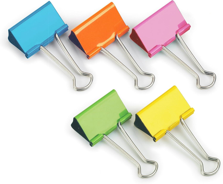 homiki Un paquet color/é Mini pinces en m/étal /à anneaux Bureau Organiser Papier Pinces Clips Fournitures de bureau