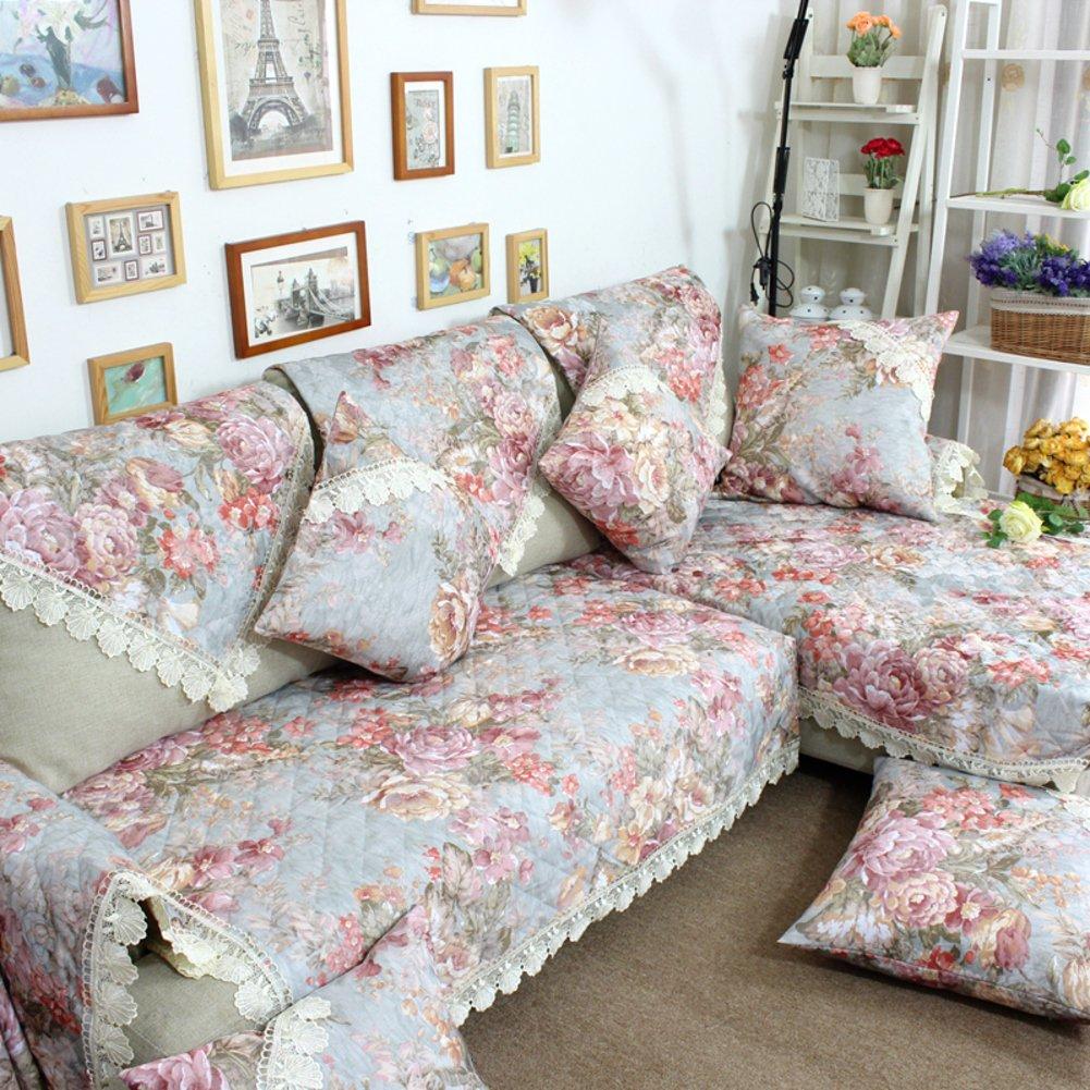 European Style Sofa Pad/Anti-skid Cloth Sofa Towel/Bay Window Mat/Sofa Cushion/Thickened Sofa Towel/Sofa Sets-A 110x180cm(43x71inch)