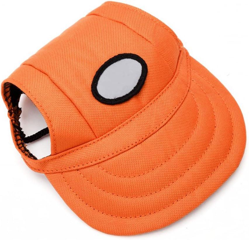 WINOMO Hund Oxford Hut Baseballcap mit Ohr L/öcher f/ür kleine Hunde Gr/ö/ße M Orange