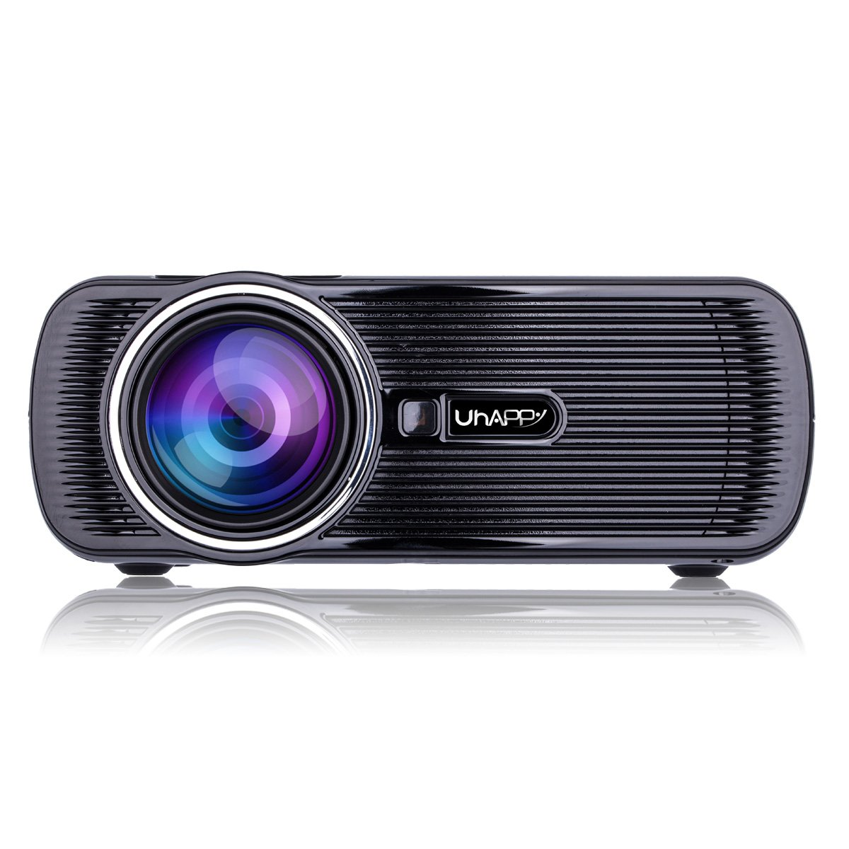 UHAPPY U80 Mini LED HD projector Portable projector (EN) - Black by U Happy (Image #2)