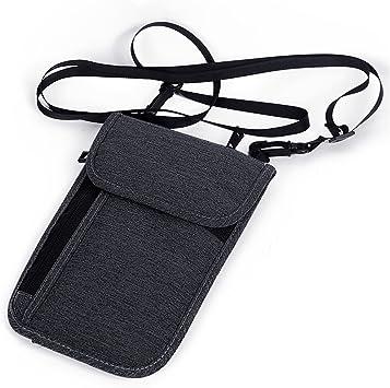 Black NOTAG Travel Neck Pouch Neck Wallet RFID Blocking Passport Holder Travel Wallet for Women /& Men